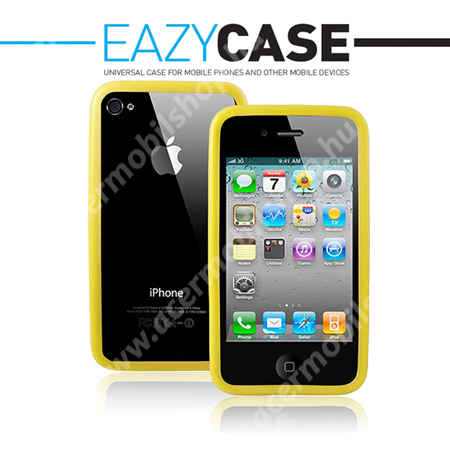 Apple iPhone 4/Apple iPhone 4S szilikon védőkeret - Bumper sárga