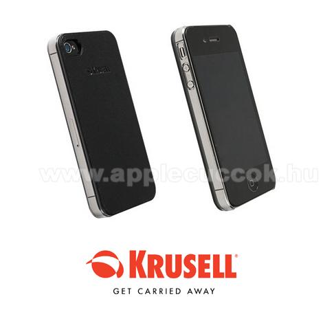 APPLE IPhone 5SAPPLE IPhone 5 műanyag védő tok / bőr hátlappal - KRUSELL DONSÖ - 89729 - FEKETE - GYÁRI