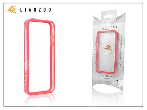 APPLE iPhone SE Apple iPhone 5 védőkeret - Bumper - Gecko Lianzoo - clear/red