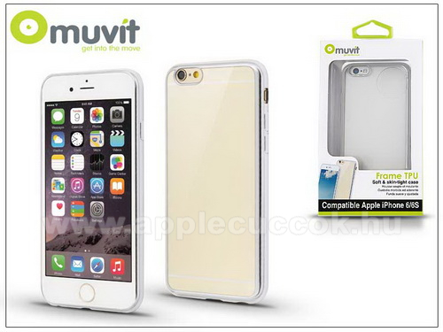 APPLE iPhone 6Apple iPhone 6/6S h�tlap - Muvit Frame TPU - clear/silver