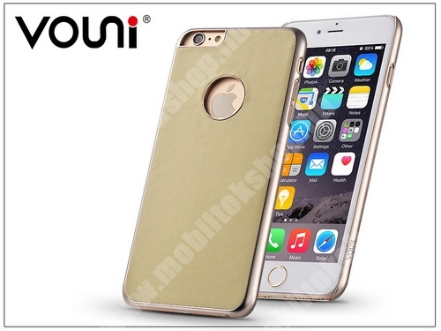 Apple iPhone 6/6S valódi bőr hátlap - Vouni Excellence - champagne gold