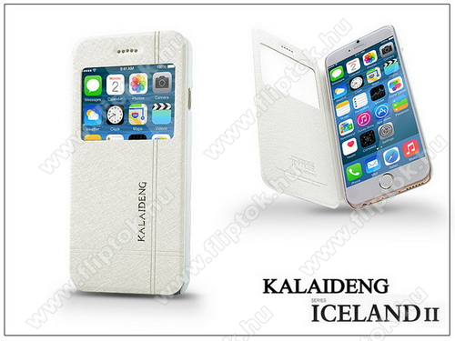 APPLE iPhone 6Apple iPhone 6 flipes tok - Kalaideng Iceland 2 Series View Cover - white