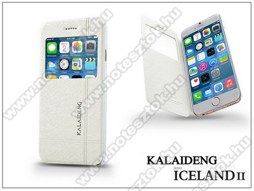 APPLE iPhone 6 Apple iPhone 6 flipes tok - Kalaideng Iceland 2 Series View Cover - white