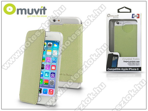 APPLE iPhone 6 Apple iPhone 6 flipes tok - Muvit Crystal Folio - lime