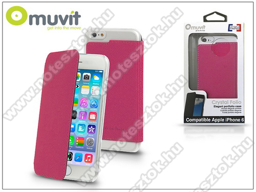 APPLE iPhone 6 Apple iPhone 6 flipes tok - Muvit Crystal Folio - pink