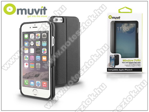 APPLE iPhone 6 Apple iPhone 6 flipes tok - Muvit Window Folio - black