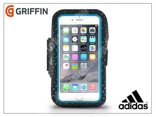 Apple iPhone 6 kartok sportoláshoz - Adidas miCoach Sport Armband - black/blue