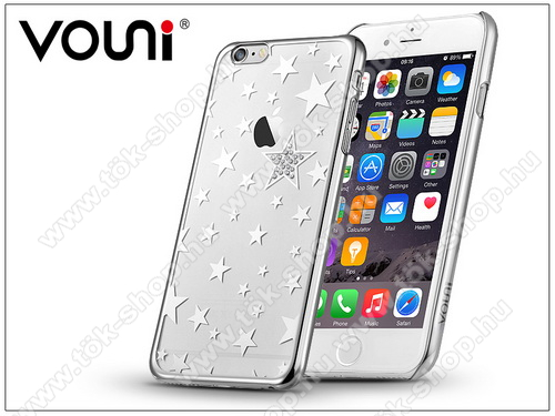 Apple iPhone 6 Plus/6S Plus hátlap kristály díszitéssel - Vouni Crystal Star - silver