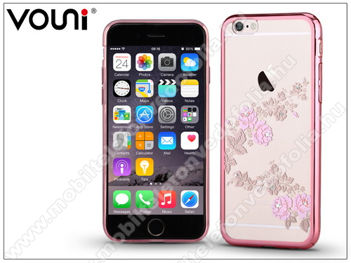 Apple iPhone 6 Plus/6S Plus hátlap kristály díszitéssel - Vouni Crystal Fragrant - rose gold