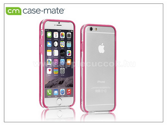APPLE iPhone 6APPLE iPhone 6 védőkeret - Case-Mate Tough Frame - clear/pink - CM031619 - GYÁRI