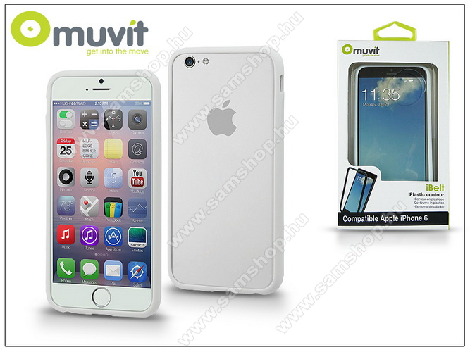 APPLE iPhone 6 védőkeret - Muvit i-Belt Bumper - white - I-MUBKC0808 - GYÁRI