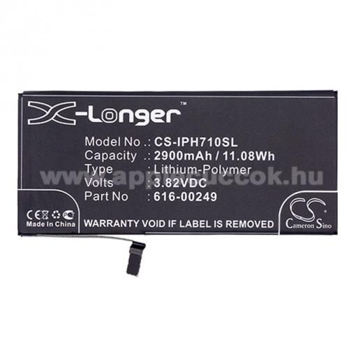 APPLE iPhone 7 Plus akkumulátor - 2900mAh Li-Polymer - (616-00249 utángyártott)