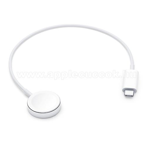 APPLE Watch Series 4 40mmAPPLE okos�ra USB t�lt? - FEH�R - Type-C, m�gneses, 30 cm, gyorst�lt�s t�mogat�s - Apple Watch Series 1 / 2 / 3 / 4 / 5 - MX2J2ZM/A - GY�RI