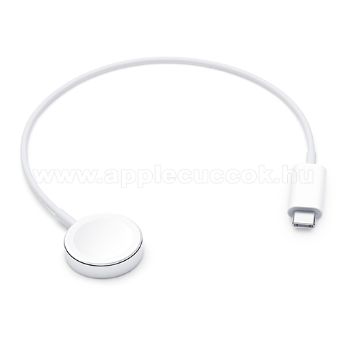 APPLE Watch Series 4 40mm APPLE okosóra USB töltő - FEHÉR - Type-C, mágneses, 30 cm, gyorstöltés támogatás - Apple Watch Series 1 / 2 / 3 / 4 / 5 - MX2J2ZM/A - GYÁRI
