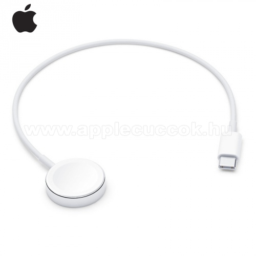 Apple Watch Series 5 44mm APPLE Okosóra USB töltő - Type-C, mágneses, 30 cm - FEHÉR - APPLE Watch Series 1/2/3/4 - MU9K2ZM/A - GYÁRI
