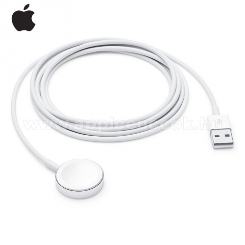 APPLE Watch Series 4 40mm APPLE Okosóra USB töltő - USB, mágneses, 2m - FEHÉR - APPLE Watch Series 1/2/3/4 - MU9H2ZM/A - GYÁRI