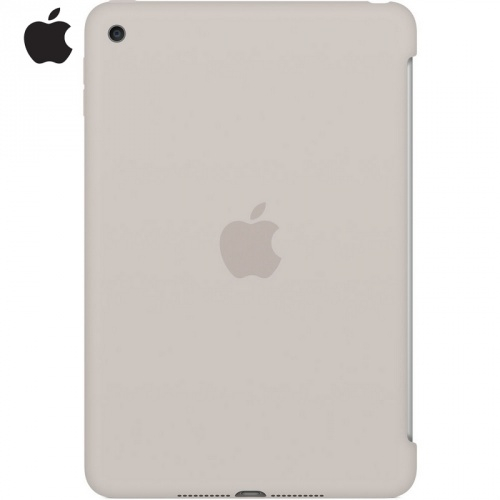 APPLE szilikon védő tok / hátlap - ÁTLÁTSZÓ - BÉZS - MKLP2ZM/A - APPLE iPad Mini 4 / APPLE iPad mini (2019) - GYÁRI