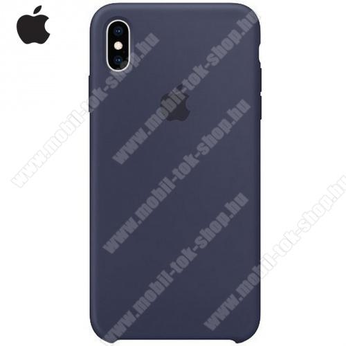 APPLE szilikon védő tok / hátlap ÉJKÉK - MRWG2ZM/A - Apple iPhone XS Max 6.5 - GYÁRI
