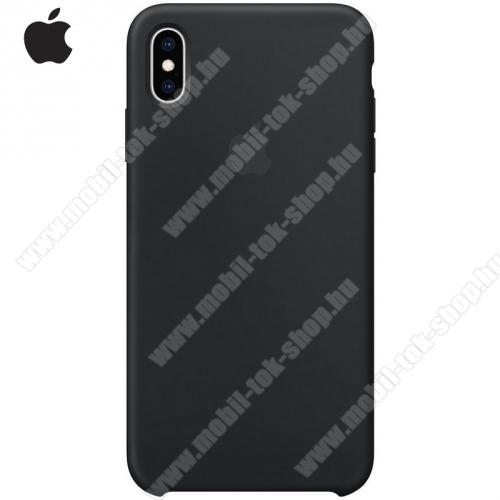 APPLE szilikon védő tok / hátlap FEKETE - MRWE2ZM/A - Apple iPhone XS Max 6.5 - GYÁRI