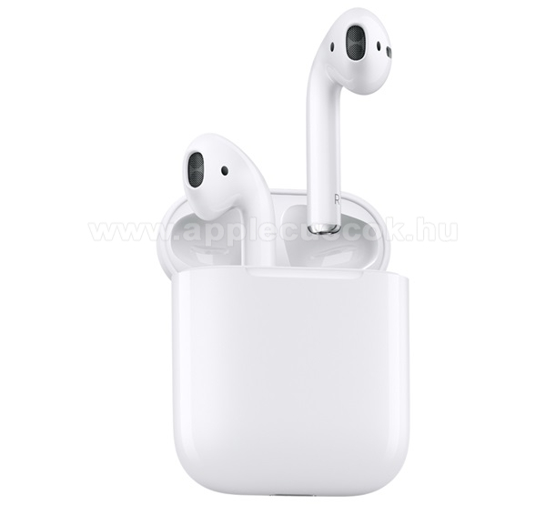 APPLE iPad 9.7 (5th generation) (2017) APPLE SZTEREO BLUETOOTH HEADSET - mikrofon, AirPods, 2. gener�ci�s + t�lt?tok - FEH�R - MV7N2ZM/A - GY�RI
