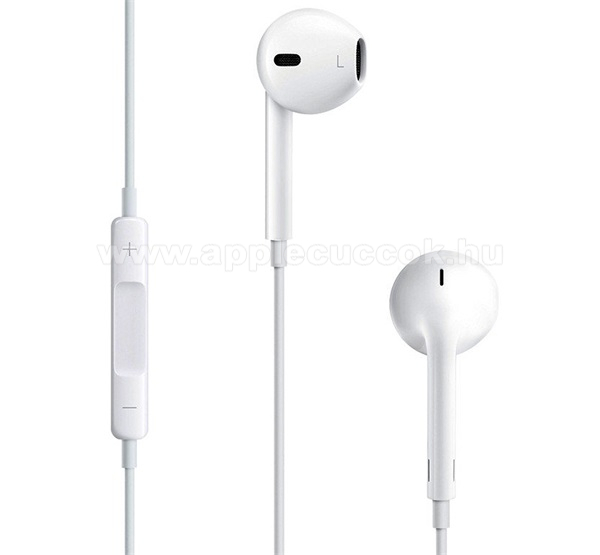APPLE iPad 9.7 (5th generation) (2017) APPLE sztereo headset - 3.5mm jack, mikrofon, felvev? gomb, hanger?szab�lyz� - FEH�R - MD827ZM/A - GY�RI - Csomagol�s n�lk�li