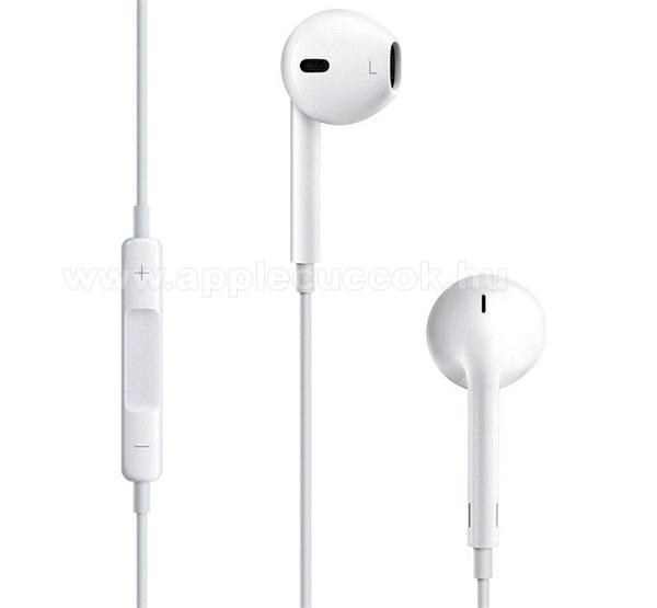 APPLE iPad Pro 12.9 (2017)APPLE sztereo headset - 3.5mm jack, mikrofon, felvevő gomb, hangerőszabályzó - FEHÉR - MD827ZM/A - GYÁRI - Csomagolás nélküli