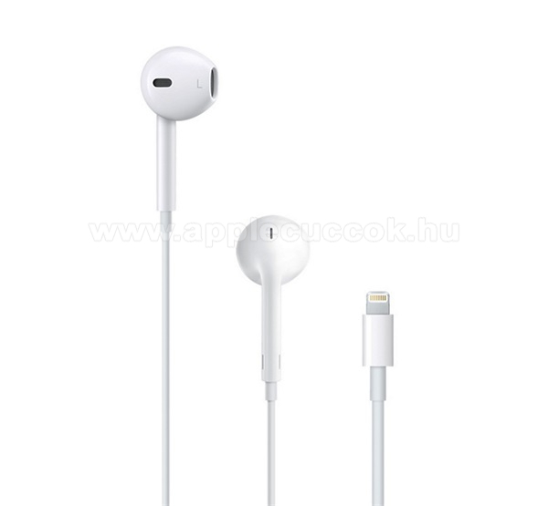 APPLE iPad 9.7 (5th generation) (2017) APPLE sztereo headset - lightning 8 pin, mikrofon, felvev? gomb, hanger?szab�lyz� - FEH�R - MMTN2ZM/A / MMTN2AM/A - GY�RI