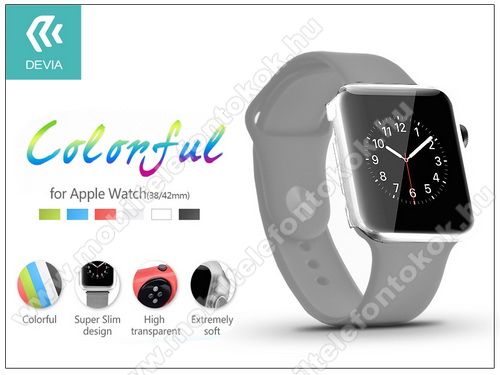 Apple Watch védőtok - Devia Colorful 38 mm - clear