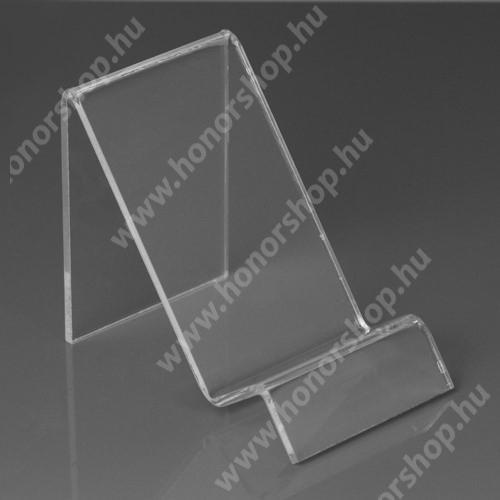HUAWEI P20 Lite (2018) Asztali tartó / állvány - 6cm széles, 7,5cm magas - ÁTLÁTSZÓ PLEXI