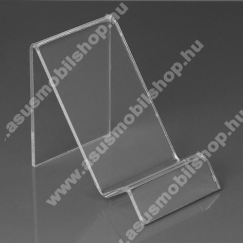 ASUS Zenfone Max Pro (M2) (ZB631KL)Asztali tartó / állvány - 6cm széles, 7,5cm magas - ÁTLÁTSZÓ PLEXI