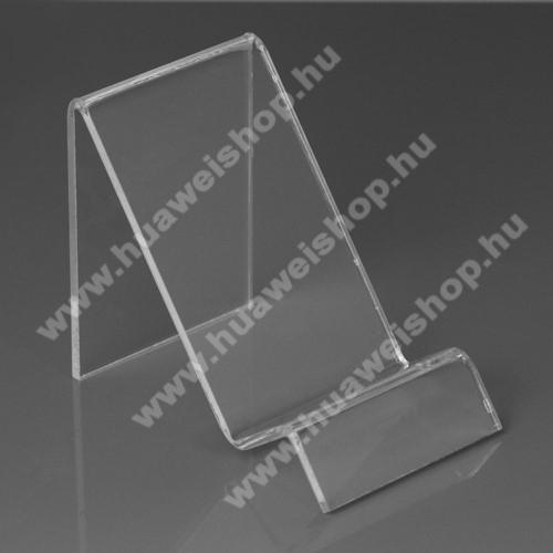 HUAWEI Honor Note 8Asztali tartó / állvány - 6cm széles, 7,5cm magas - ÁTLÁTSZÓ PLEXI