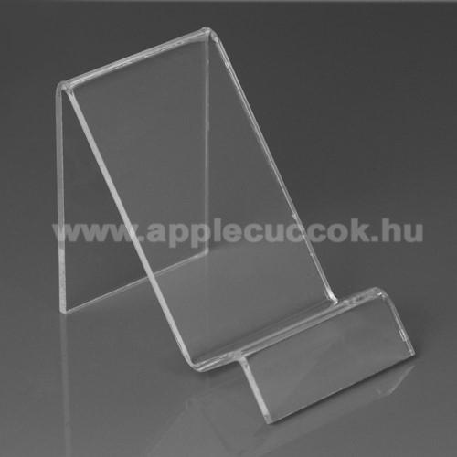 APPLE iPhone XAsztali tartó / állvány - 6cm széles, 7,5cm magas - ÁTLÁTSZÓ PLEXI