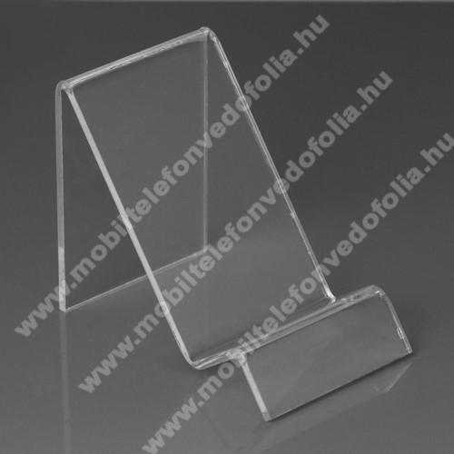 ZTE S30 SEAsztali tartó / állvány - 6cm széles, 7,5cm magas - ÁTLÁTSZÓ PLEXI