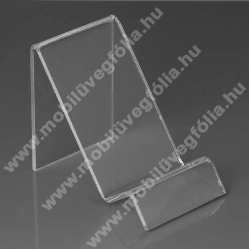 SAMSUNG Galaxy S10 Lite (SM-G770F)Asztali tartó / állvány - 6cm széles, 7,5cm magas - ÁTLÁTSZÓ PLEXI
