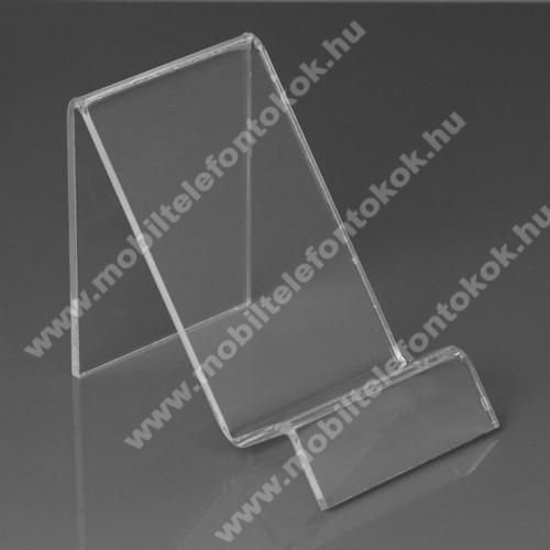LG G5 (H850)Asztali tartó / állvány - 6cm széles, 7,5cm magas - ÁTLÁTSZÓ PLEXI