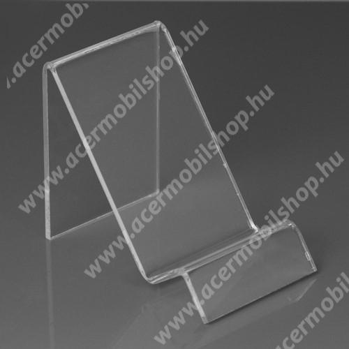 ACER Liquid Z205 Asztali tartó / állvány - 6cm széles, 7,5cm magas - ÁTLÁTSZÓ PLEXI