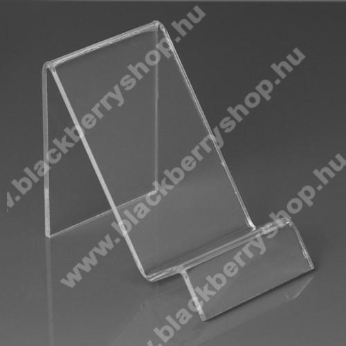 BLACKBERRY 9650 BoldAsztali tartó / állvány - 6cm széles, 7,5cm magas - ÁTLÁTSZÓ PLEXI