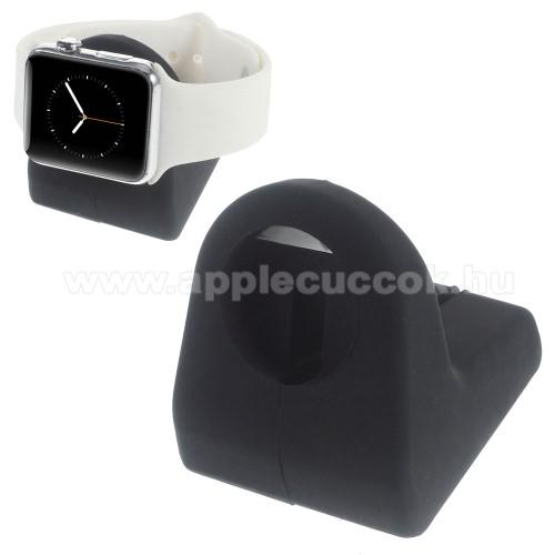 Asztali tart� / �llv�ny - okos�ra t�lt?h�z - Apple Watch 38mm/42mm - FEKETE