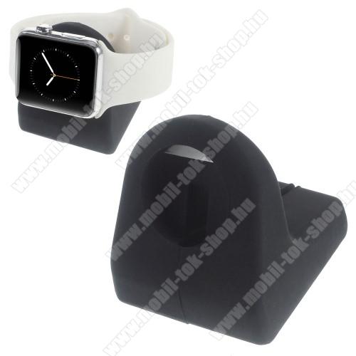 Asztali tartó / állvány - okosóra töltőhöz - Apple Watch 38mm/42mm - FEKETE