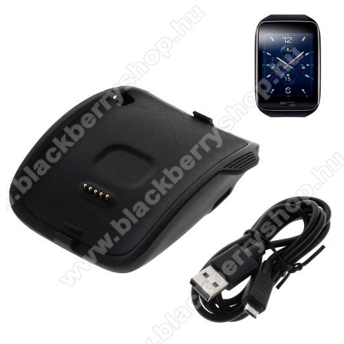 Asztali töltő állvány / dokkoló - FEKETE - Samsung Galaxy Gear S Smart Watch SM-R750