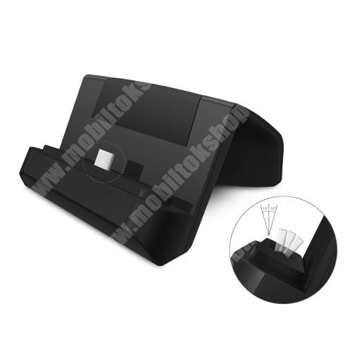 HUAWEI P30 Lite Asztali töltő / dokkoló - adatátviteli állvány, USB 3.1 Type C, 1m USB kábellel - FEKETE
