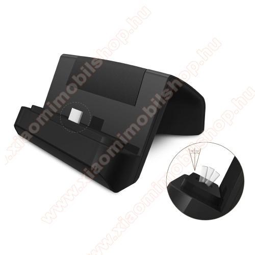 Xiaomi Redmi Note 7Asztali töltő / dokkoló - adatátviteli állvány, USB 3.1 Type C, 1m USB kábellel - FEKETE