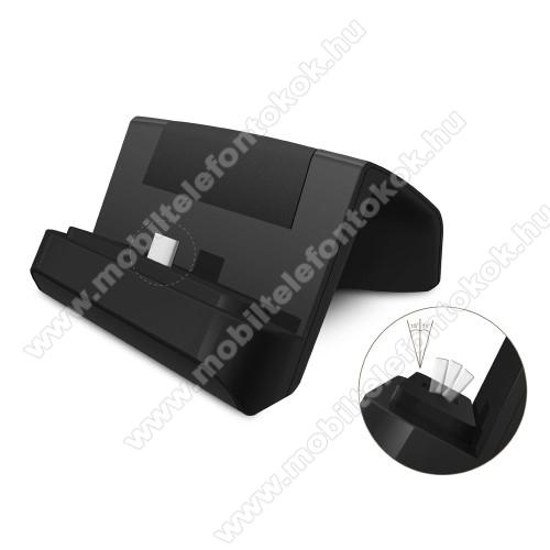 Meizu 16 PlusAsztali töltő / dokkoló - adatátviteli állvány, USB 3.1 Type C, 1m USB kábellel - FEKETE