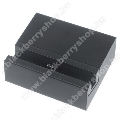 Asztali töltő / dokkoló - adatátviteli állvány - FEKETE - SONY Xperia Z5 / Z5 Dual / Z5 Premium / Z5 Premium Dual / Z5 Compact