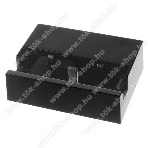 Asztali töltő / dokkoló - adatátviteli állvány, USB 3.1 Type C - FEKETE