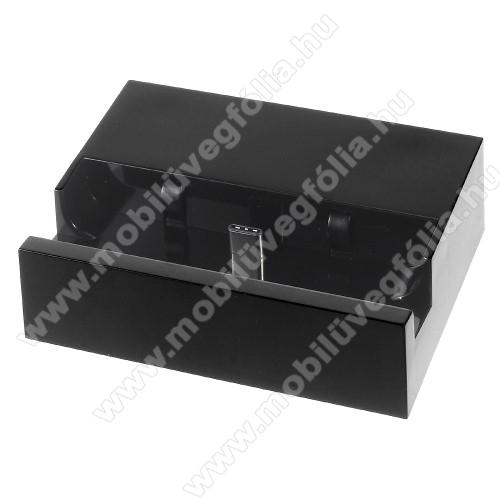 NOKIA X71Asztali töltő / dokkoló - adatátviteli állvány, USB 3.1 Type C - FEKETE