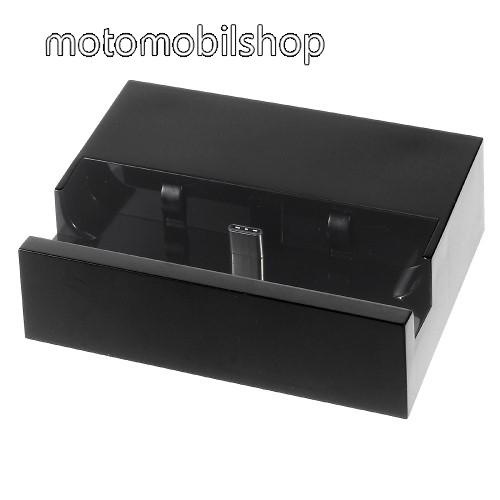 MOTOROLA One (P30 Play) Asztali töltő / dokkoló - adatátviteli állvány, USB 3.1 Type C - FEKETE