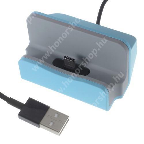HUAWEI Honor 10 Asztali töltő / dokkoló - adatátviteli állvány, USB 3.1 Type C, 1m-es kábellel - VILÁGOSKÉK