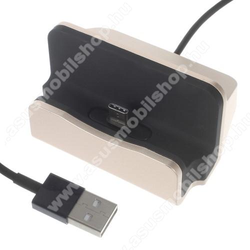 ASUS Zenpad Z10 (ZT500KL)Asztali töltő / dokkoló - adatátviteli állvány, USB 3.1 Type C, 1m-es kábellel - ARANY