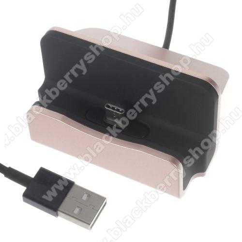 BLACKBERRY Evolve XAsztali töltő / dokkoló - adatátviteli állvány, USB 3.1 Type C, 1m-es kábellel - ROSE GOLD